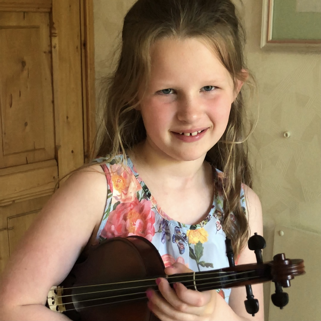 Lize vertelt waarom ze viool speelt